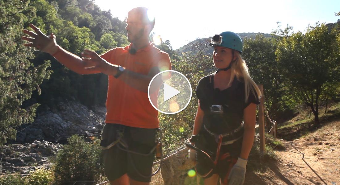 Premium Camping: Ausflug in schwindelige Höhen im Hochseilgarten Aquarock Aventure