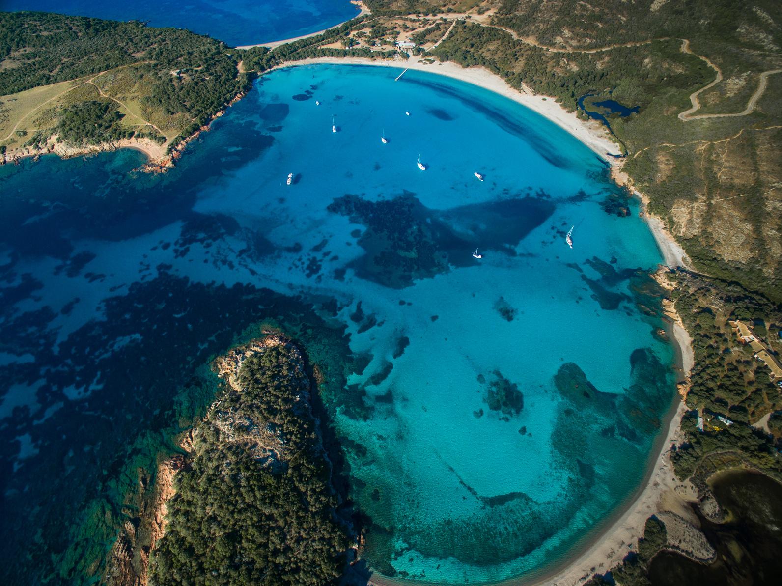 Rondinara Beach, Korsika, Frankreich