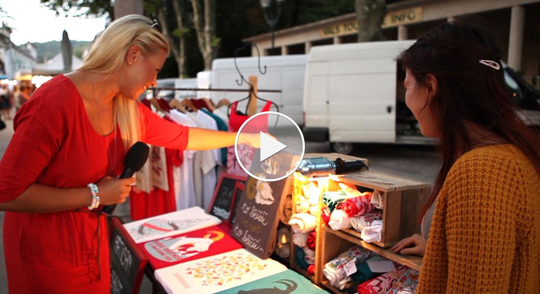 Premium Camping in Frankreich: Wochenmarkt in Vals-les-Bains