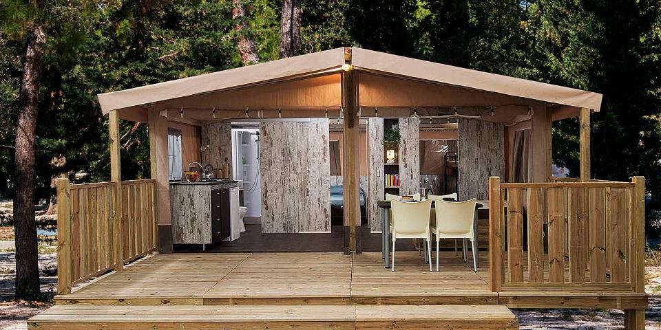 Safarizelt auf dem Camping Zaton Holiday Resort