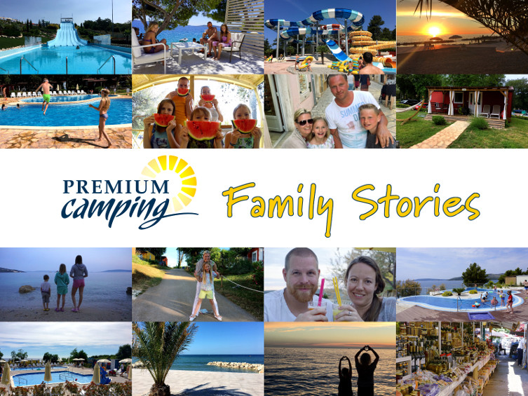 Premium Camping Family Stories Startseite Collage