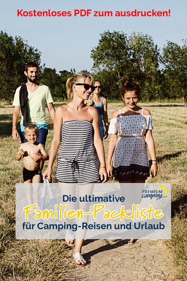 Die ultimative Camping Packliste für deinen Urlaub - Familienurlaub - Premiumcamping.de